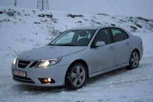 Saab 9-3 winter driving