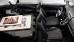 Subaru Trezia folded seats