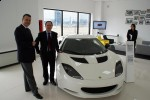 Martin Harris la showroom Lotus Forza Rossa