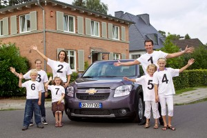 Chevrolet Orlando accomodate a big family