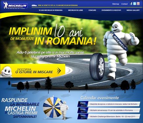 Website 10 ani Michelin in Romania