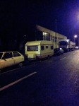 Oltcit abandonat, rulota si TIR in Bucuresti