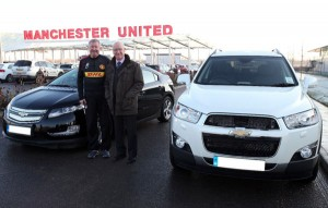 Sir Alex Ferguson Manchester United Chevrolet Volt