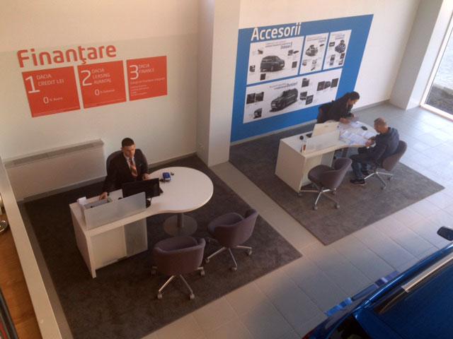 Standard showroom Dacia