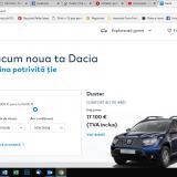 Dacia lansează o platformă online pentru vânzarea modelelor din stoc