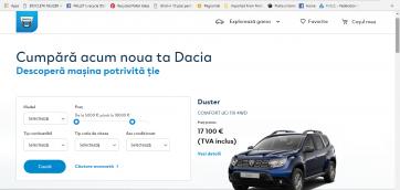 Dacia platforma online vanzari
