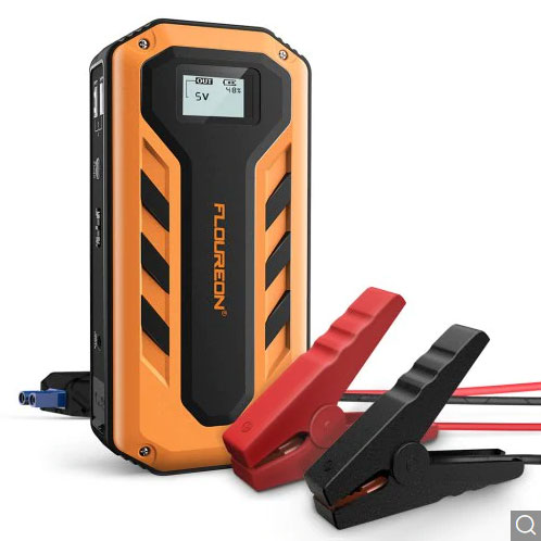 Gearbest FLOUREON 12000mAh With LED Light 600A Peak Current Jump Starter